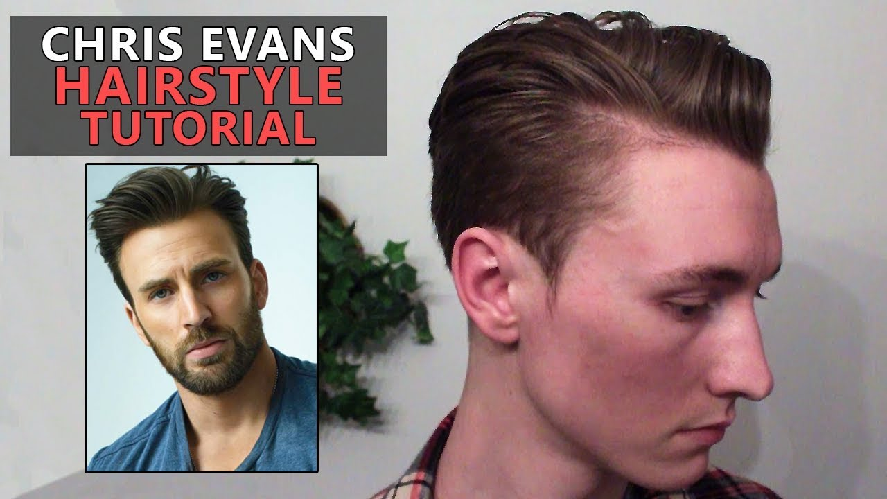 chris evans hairstyle tutorial | 2 hairstyles | avengers: end game