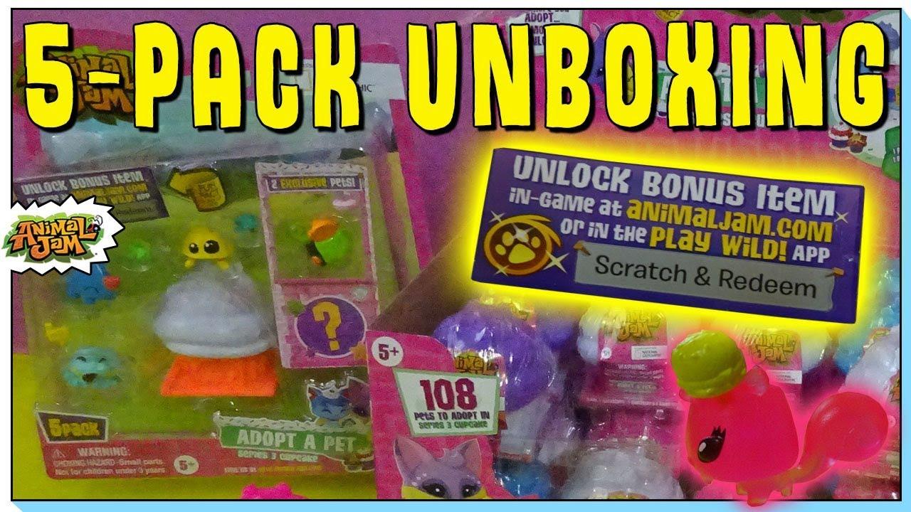 1x New Animal Jam Adopt A Pet Series 3 Cupcake Blind Mystery Bag 2 Pack Code