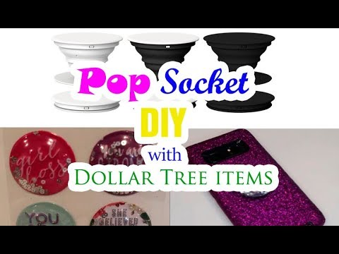 PopSocket DIY with DollarTree Items 😊