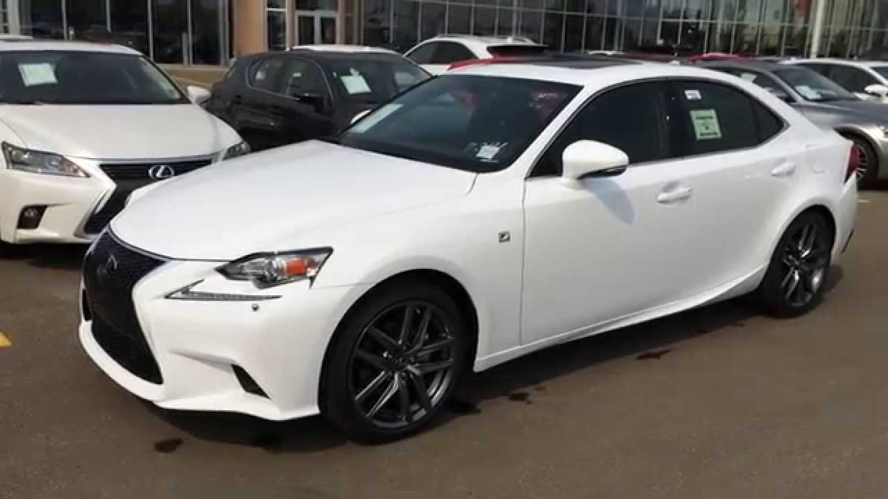 2015 lexus is 250 awd f sport series 3 review ultra white on black west edmonton youtube. Black Bedroom Furniture Sets. Home Design Ideas