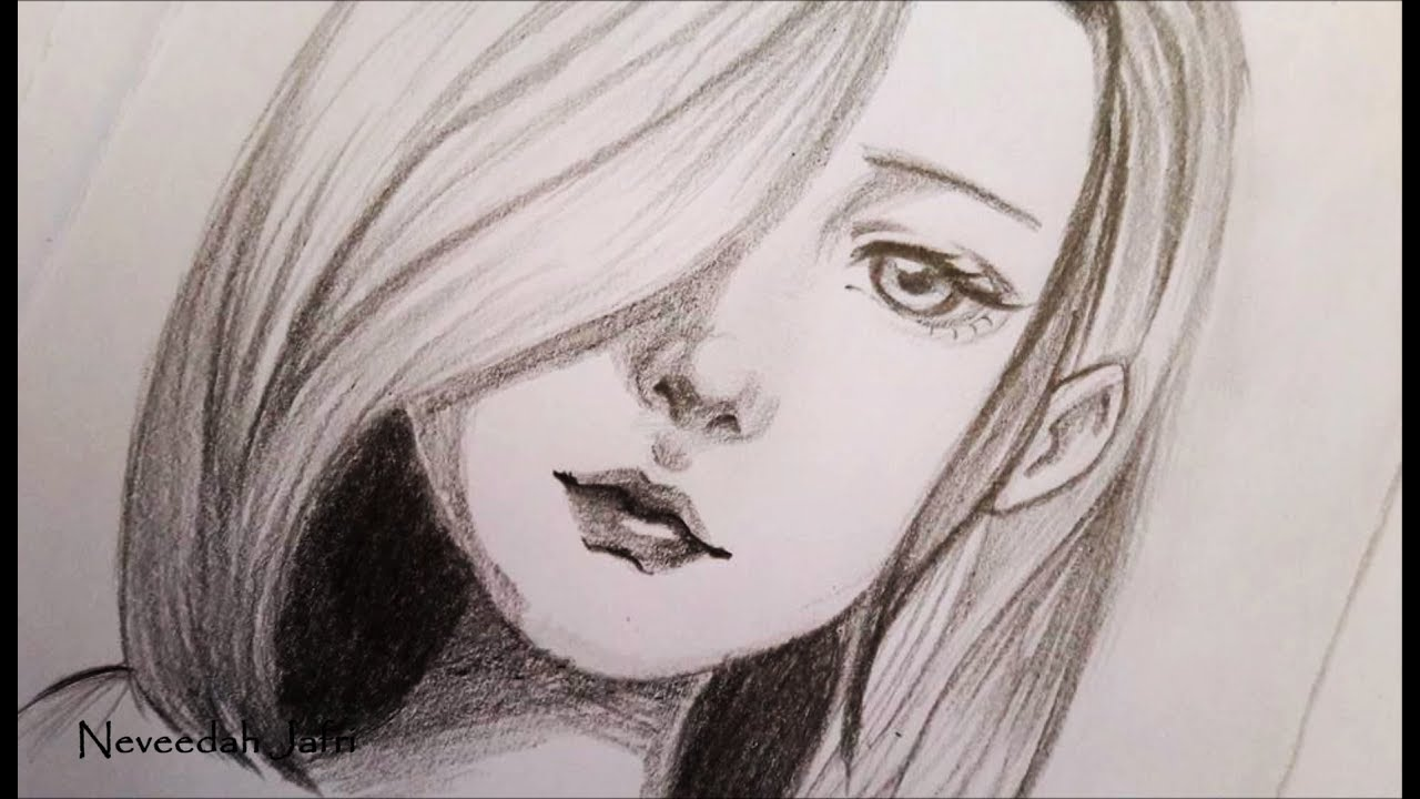 It is a picture of Magic Woman's Face Drawing