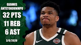 Giannis drops 32 points in showdown with LeBron in Bucks vs. Lakers | 2019-20 NBA Highlights