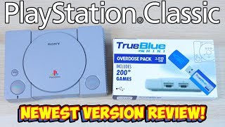 New True Blue Mini Overdose 128gb PlayStation Classic Hack Plug & Play USB Drive!