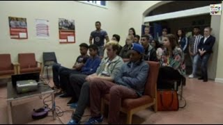 Fixers Youth Work Cuts Story on ITV News Calendar, October 2014