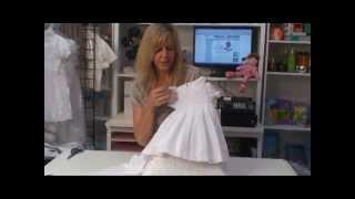 Smocked White Dress for Little Girls Christening