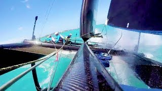 Crazy Save on a Hydrofoil Sailboat | Red Bull Youth America's Cup