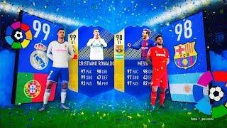 Ronaldo tots y messi tots in packs!! | top sobres la liga | fifa 18