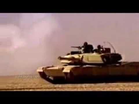 M1 Abrams Tank In Action