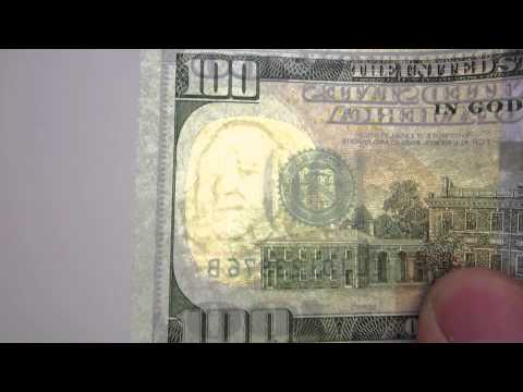 New $100 Bill - Benjamin Franklin Watermark
