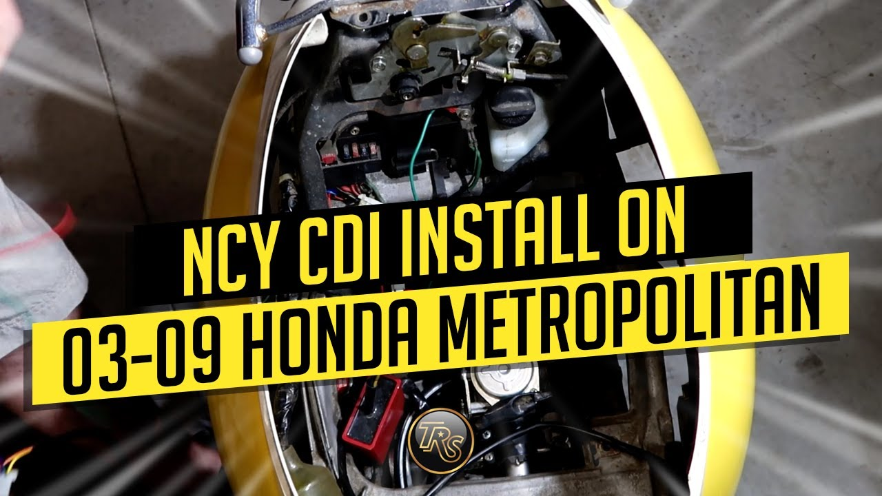 NCY CDI INSTALL ON 2003-2009 HONDA METROPOLITAN - YouTubeYouTube