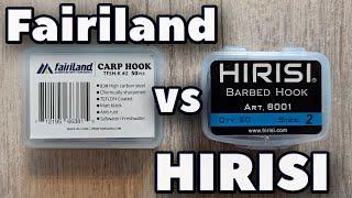 Бюджетные карповые крючки Fairiland vs HIRISI