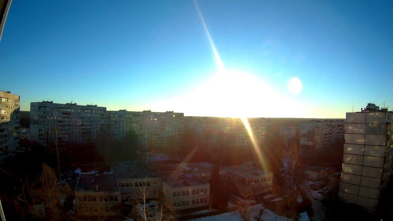 рассвет в городе фото