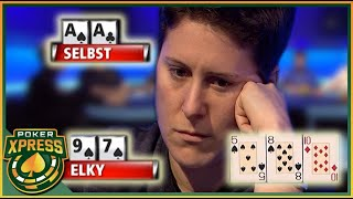 Vanessa Selbst living a poker NIGHTMARE with pocket Aces!