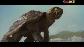 Giant Tortoise saving city from Deadly dragon horror movie scene