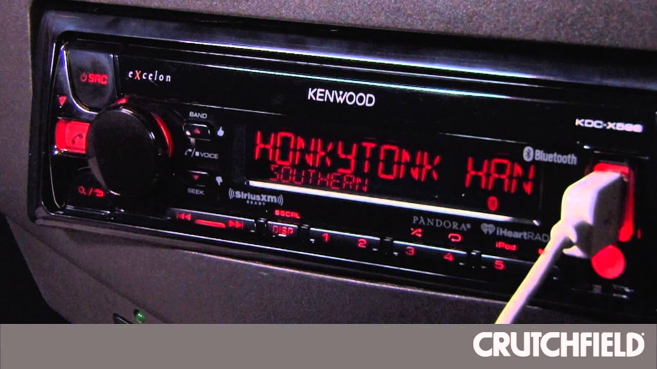 hight resolution of kenwood kdc x598 display and controls demo crutchfield video