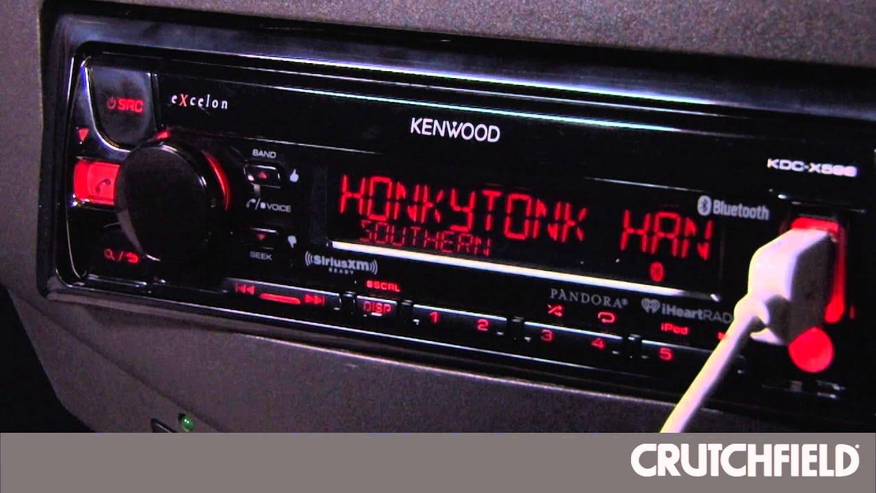 kenwood kdc x598 display and controls demo crutchfield video [ 1280 x 720 Pixel ]