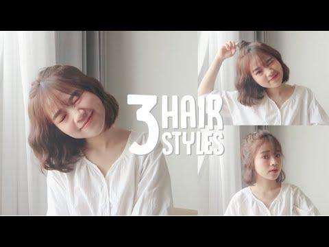 HAIR TUTORIAL  : 3 ทรงผมง่ายๆ ที่ทำไปที่ไหนก็ได้ สำหรับสาวผมสั้น | mackcha