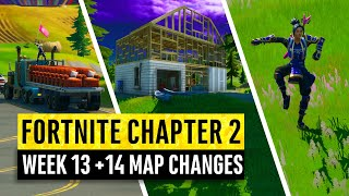 Fortnite | All Chapter 2 Map Updates and Hidden Secrets! WEEK 13 & 14