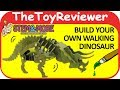 STEM&More Triceratops The Walking Dinosaur 3D Puzzle Robot Unboxing Toy Review by TheToyReviewer