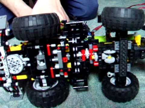 8284 technic lego tractor 4x4 part 8 - YouTube