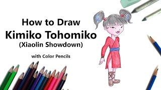 How to Draw Kimiko Tohomiko from Xiaolin Showdown with Color Pencils [Time Lapse]