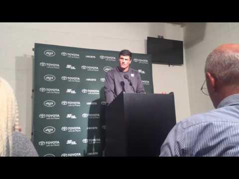 Christian Hackenberg talks after Jets-Eagles