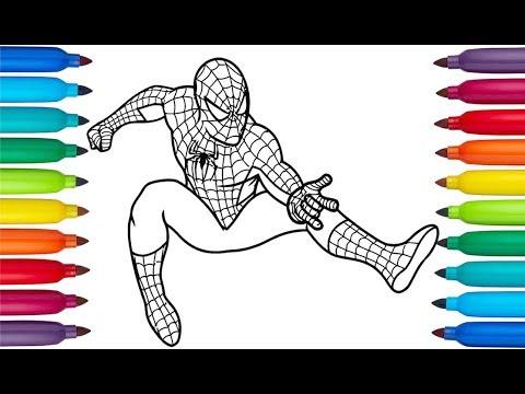 Dibuja Y Colorea Al Hombre Ara 241 A Pinta A Spiderman
