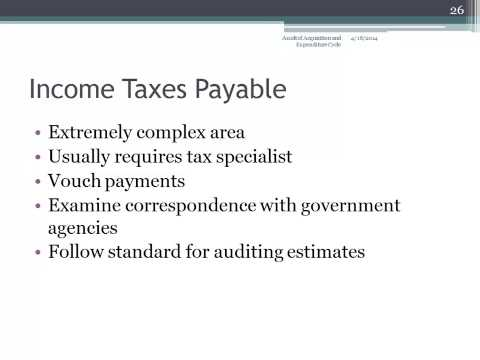 Auditing Accrued Liabilities And Property, Plant, And Equipment