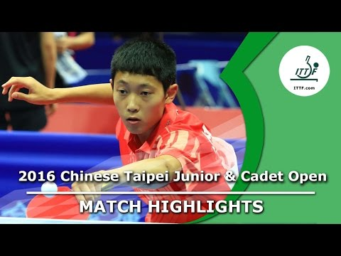 2016 Chinese Taipei Junior & Cadet Open Highlights: Tai Ming-Wei vs Cho Daeseong (Final)