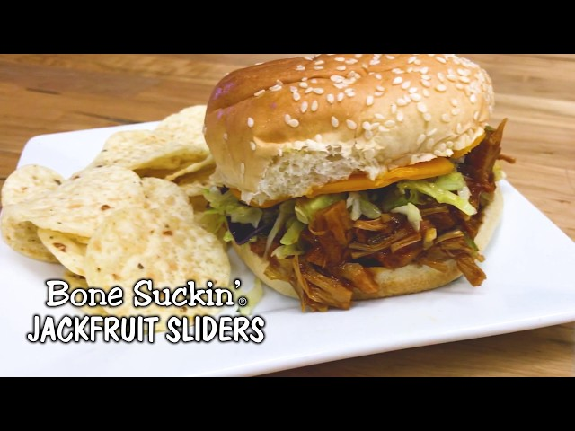 Bone Suckin' Jackfruit Sliders Recipe (Meatless Alternative)