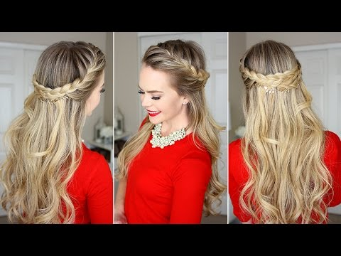 French Braid Crown Hairstyle