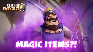 Clash Royale Update: MAGIC ITEMS ARE HERE! (New Animation!)
