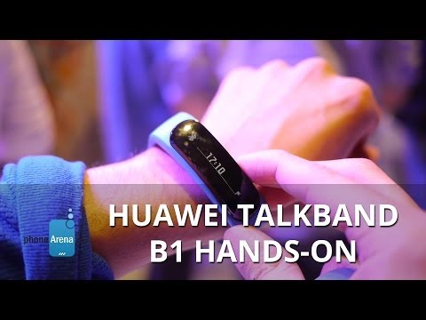 Huawei Smartwatch Officially Unveiled As Huawei TalkBand B1 (video)