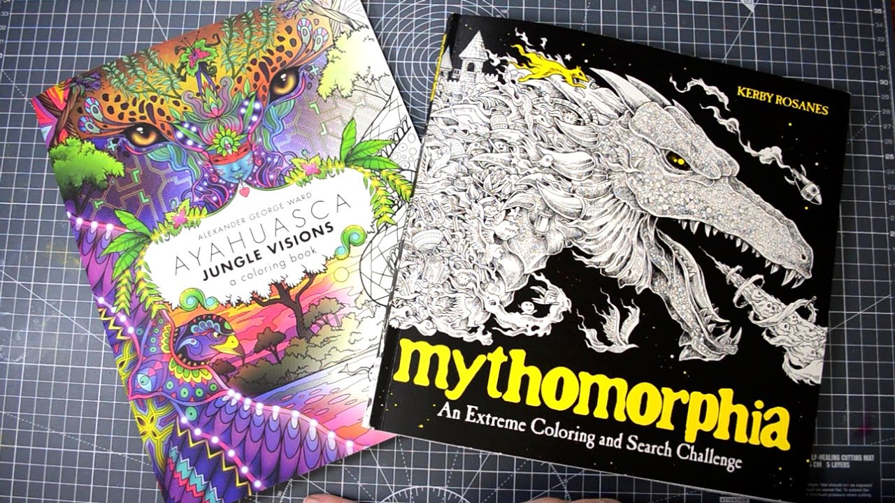 New colouring books mythomorphia ayahuasca a flip through the pages