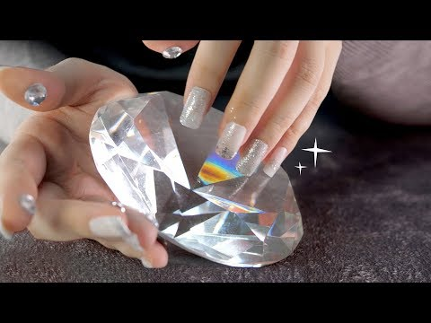 ASMR DIAMONDS💎(4K 60fps, Crystals, Beads, Ice, jewels, tapping, scratching)