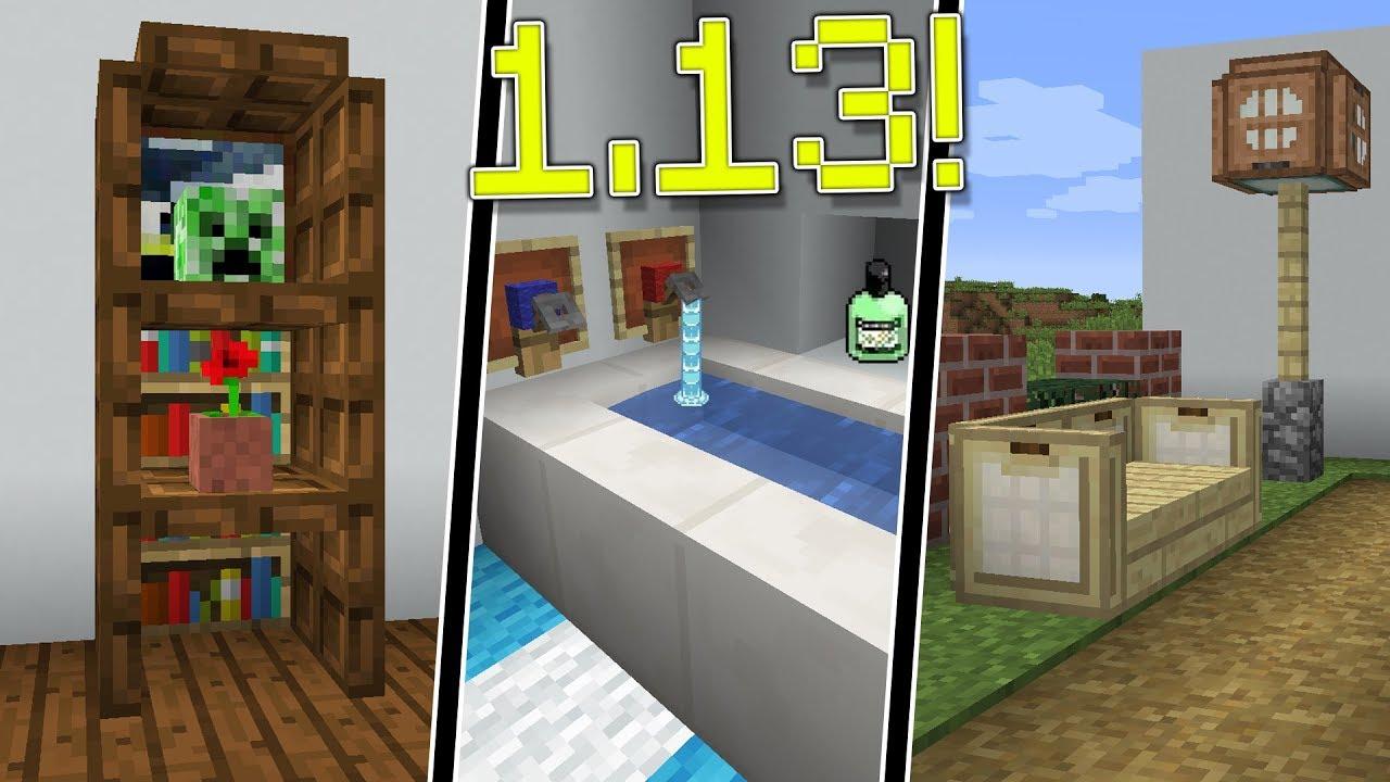 10 Ideas De Decoración Con Los Nuevos Bloques De Minecraft 1 13
