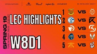 LEC Highlights ALL GAMES Week 8 Day 1 Spring 2019 League of Legends European Championship