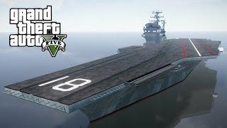 gta 5 aircraft carrier amazing stunt