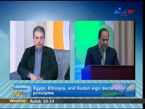 Comments on Declaration of Principles signed by Egypt, Sudan and Ethiopia