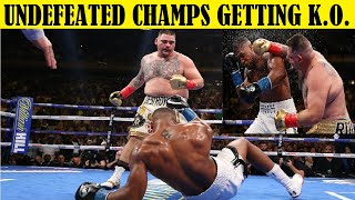 Top 10 Undefeated Champion Boxers Getting Destroyed