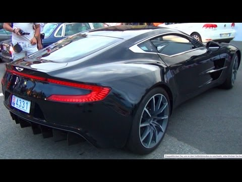 Aston Martin ONE-77 Sound Exhaust - while Drive away + Look inside  V12 Coupe Acceleration One 77