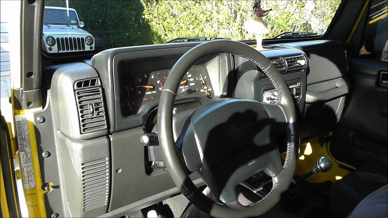 2003 jeep wrangler interior