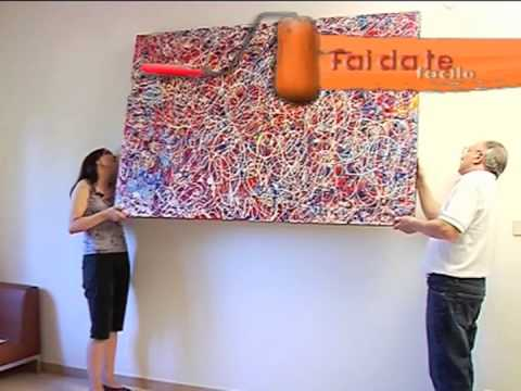 Quadro illuminato con faretti - YouTube