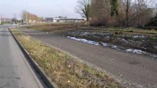 Rond point Camille Claudel, et voie verte vers Massy