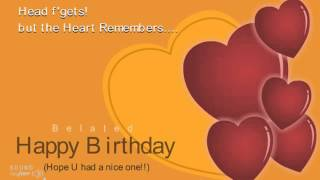Belated Happy Birthday | Wishes | Ecard | Greetings | 02 14