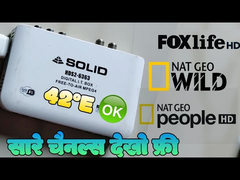 Nat Geo and Fox Network ok on 42°E , SOLID 6363/63030Key 2020