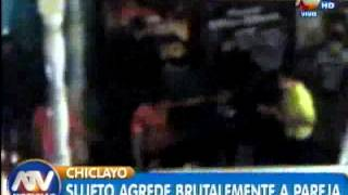 Chiclayo: Sujeto agrede a pareja saliendo de una discoteca