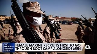 First female Marine recruits enter bootcamp alongside men