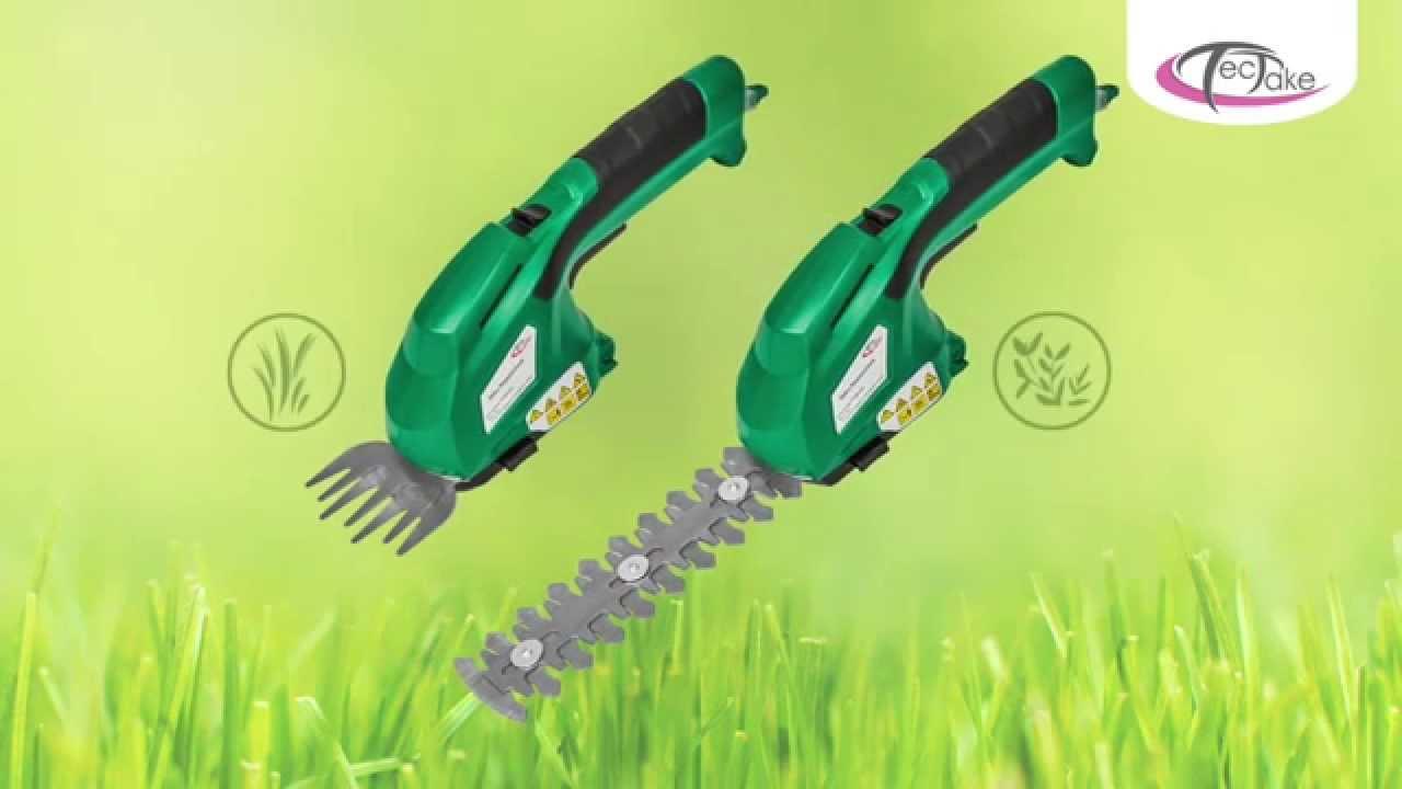 TecTake Rasenschere die mobile Rasen und Heckenschere electric