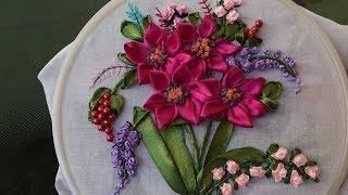 Hand embroidery Designs- Ribbon embroidery stitches for beginners. ...